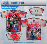 Pure Evil 80's Villians Mens Full Dye Jersey
