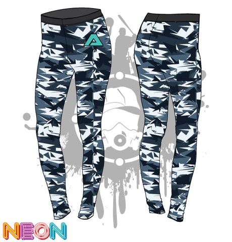 Abstract Camo Womens Leggings