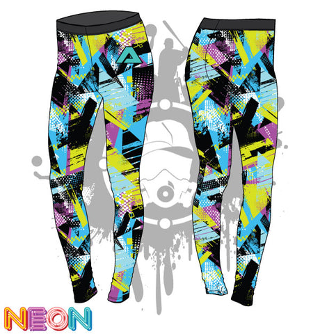 Geometric Grunge Womens Legging