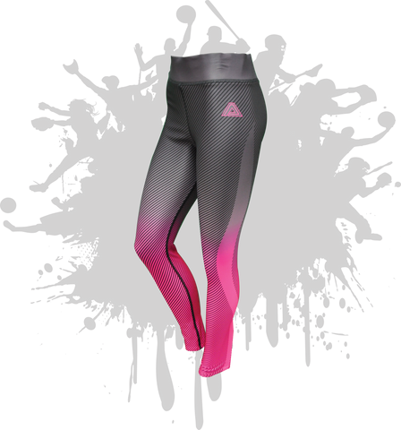 LINEAR LEGGINGS GRAPHITE/NEON PINK