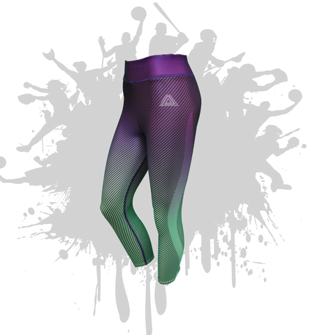 LINEAR LEGGINGS PURPLE/MINT