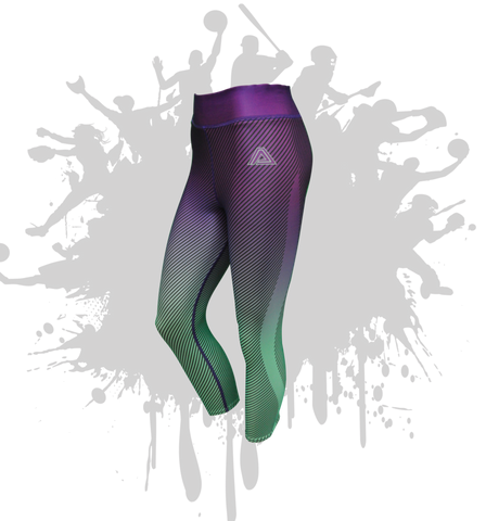 Linear Capri in PURPLE/MINT