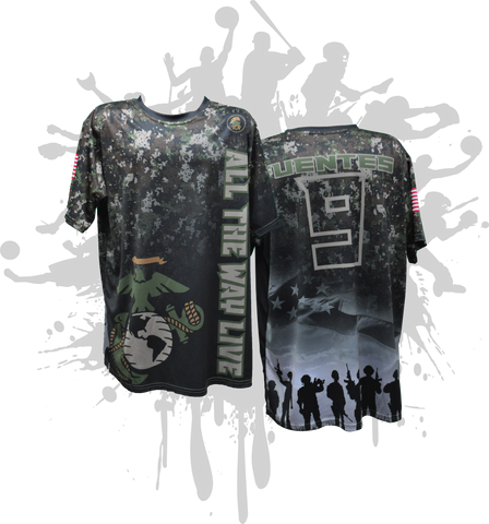 Armed Forces (Marines) Mens Full Dye Jersey