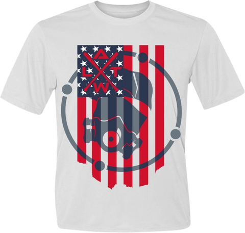 American Flag Men's White Sub Dye Jersey
