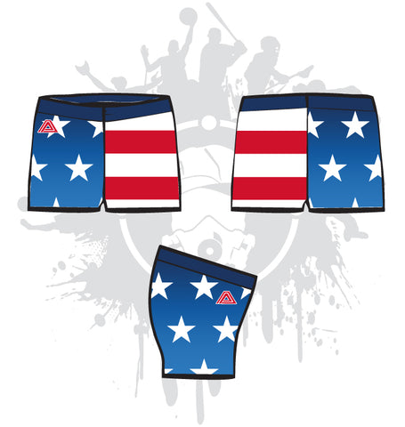 God Bless America Women's Compression Shorts