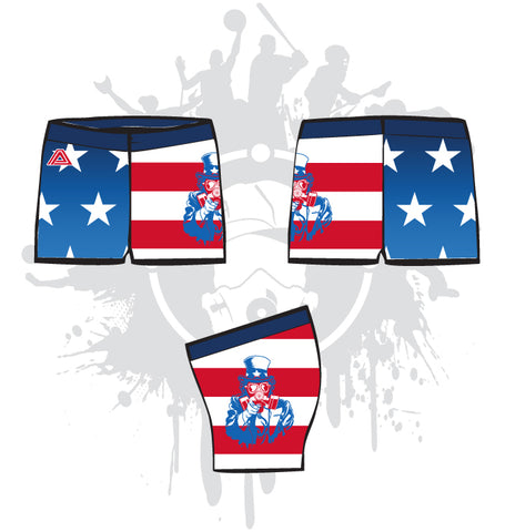 Uncle Sam Women's Compression Shorts