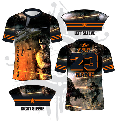 Support the Troops Full Dye Jersey
