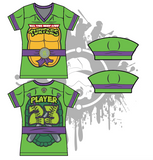 Cowabunga Turtles Womens Full Dye Jersey