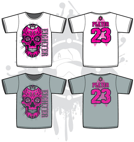 Sugar Skull Cancer Awareness Sub Dye Mens Jersey