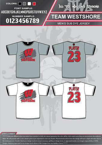 Team Westshore Parent Men Sub dyes