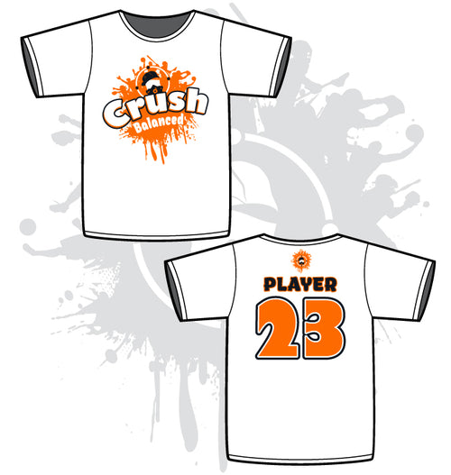 Crush Mens White Sub Dye Jersey Crush