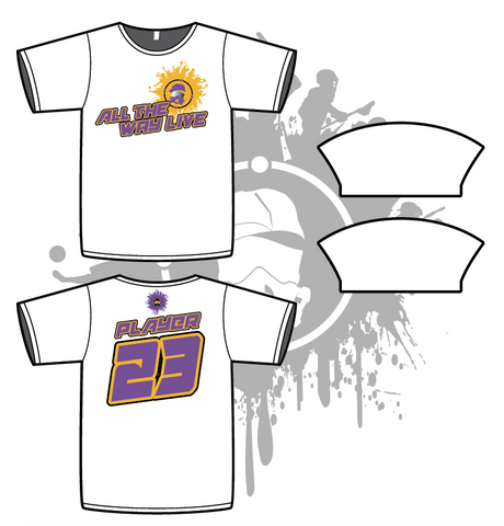 Splash Mask Mens White Sub Dye Jersey Purple/Gold