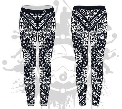 Bandana Womens Leggings: 2-color (7 Colors Available)