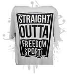 Straight Outta Freedom Men's White Sub Dye Jersey
