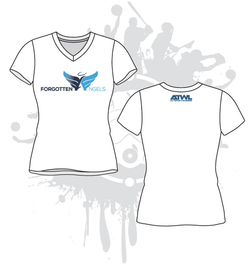 Forgotten Angels Womens Vneck Shirt