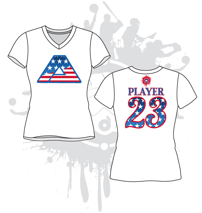 All About America Women's White Sub-Dye Jersey