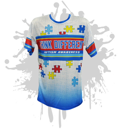 Think Different Autism Awareness Mens Full Dye Jersey