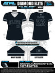 Diamond Elite Black Edition Women's V-neck Jersey