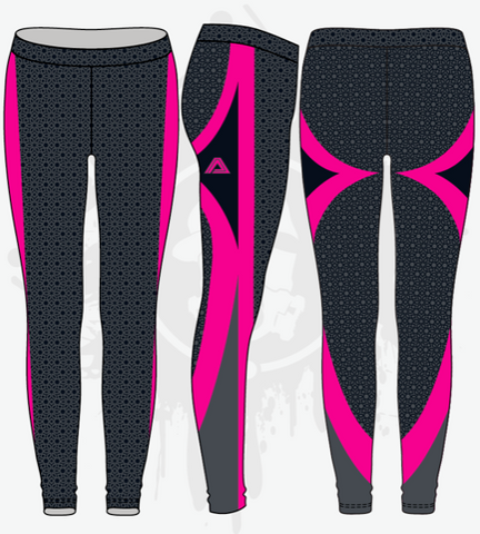Illusory Neon Womens Leggings