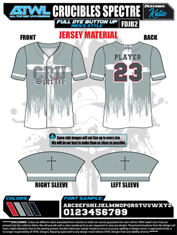 Spectre Crucibles Full Button Game Day Jersey