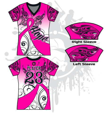 HOPE Breast Cancer Awareness Women's full dye jersey