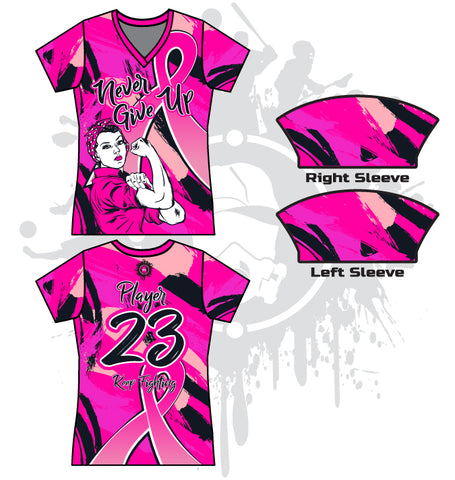 NGU Breast Cancer Awareness Women's full dye jersey