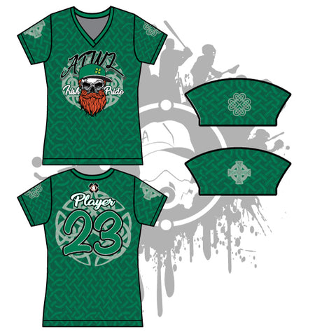 Irish Pride Womens Full Dye Jersey