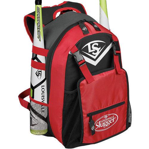 LOUISVILLE SLUGGER SERIES 5 STICK PACK EQUIPMENT RED BACKPACK WTL9501SC