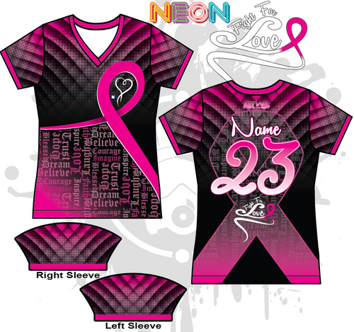 Fight For Love Cancer Awareness Womens Full Dye Jersey
