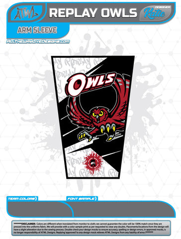 REPLAY OWLS FULL DYE ARM SLEEVE