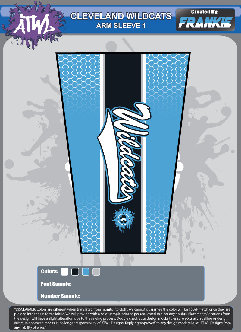 Cleveland Wildcats Full Dye Arm Sleeve