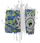 Splatter Splash Digital Camo Mens Full Dye Shorts Royal/Lime/White
