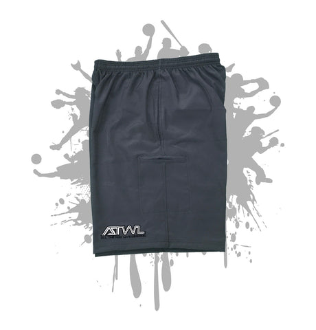 Charcoal Microfiber Stretch Short