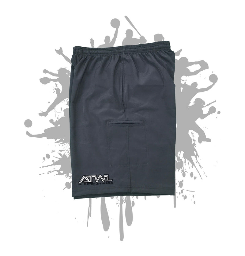 Charcoal Microfiber Stretch Short (TRON LOGO)