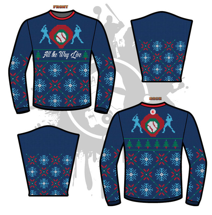 92828ef232cfa6 CROSS STITCH UGLY SWEATER – All The Way Live Designs