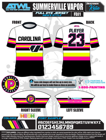 SUMMERVILLE VAPOR  2020 FULL-DYE JERSEYS