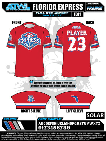 Florida Express Men's Full Dye Jersey