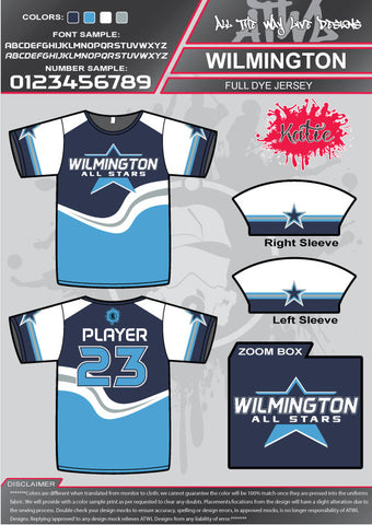 Wilmington Allstars Full-Dye Jerseys