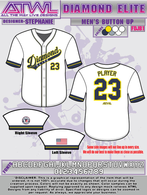 Diamond Elite Full Button Jersey