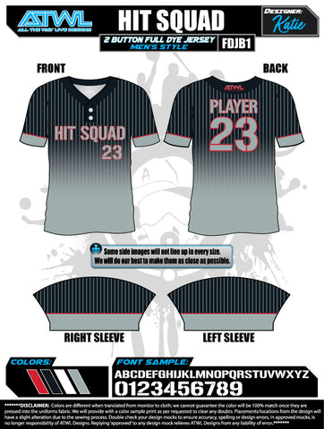 Hit Squad 2 Button Full Dye Men's Jersey