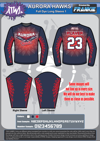 Aurora Hawks Full Dye Long Sleeve
