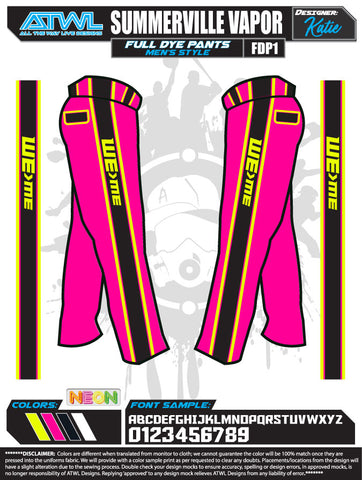 SUMMERVILLE VAPOR 2020 FULL DYE  PANTS