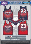 Aurora Hawks Full Dye Reversible Basketball Jersey