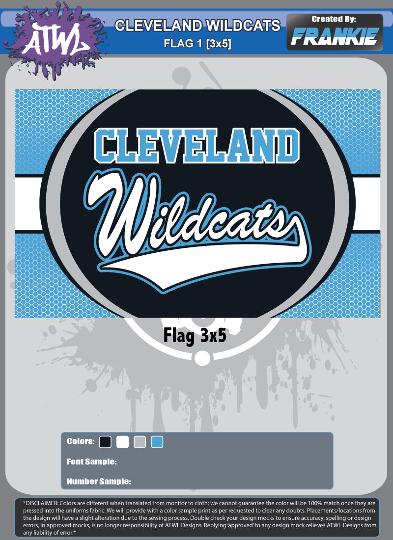 Cleveland Wildcats Flag