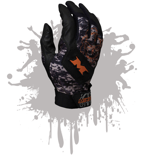 Miken Pro Adult Digi-Camo Batting Gloves