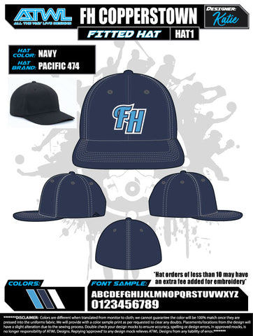 Cooperstown Fishhawk Firestorm Baseball Hat