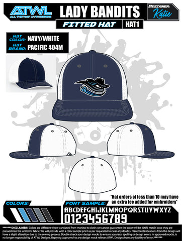 Lady Bandits 10U Hats