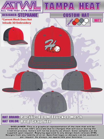 Tampa Heat 404M Custom Team Hat