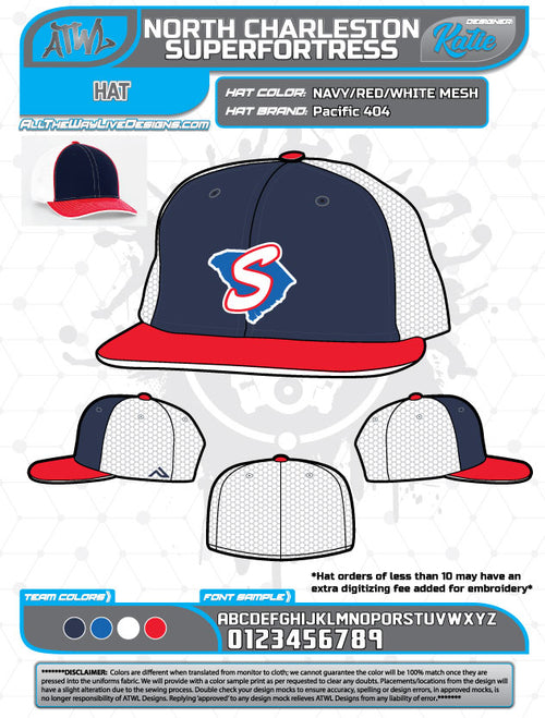 North Charleston Superfortress Hats