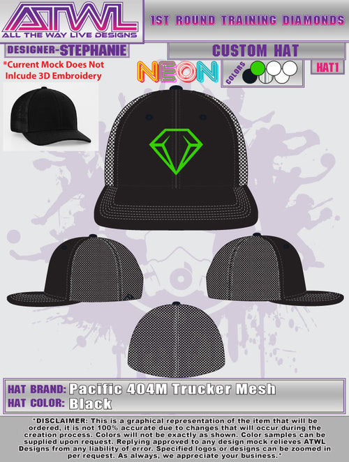 1st Round Diamonds Hats